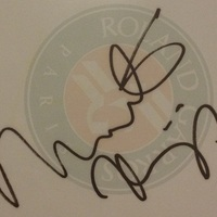 Martina Hingis autogramja