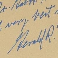 Gerald R. Ford (1913-2006) amerikai elnök dedikációja