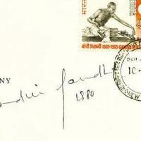 Indira Gandhi (1917-1984) autogramja