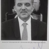 Abdullah Gül autogramja - Budapesten járt a török államfő