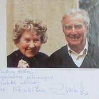 Komlós Juci és Zenthe Ferenc autogramja