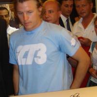 Kimi Räikkönen autogramja (Forma-1 világbajnokok sorozat)