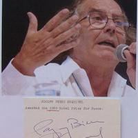 Adolfo Pérez Esquivel autogramja (Nobel Békedíj - 1980)