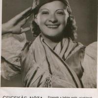Kiss Manyi (1911-1971) aláírt fotója