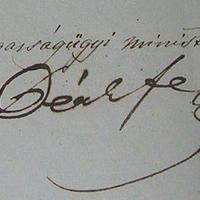Deák Ferenc (1803-1876) aláírása