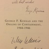 George F. Kennan (1904-2005) és John Lukacs közös dedikációja