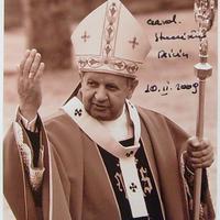 A pápa személyi titkára (Stanisław Dziwisz dedikált fotója)