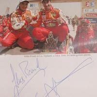 Luc Alphand és Gilles Picard autogramja