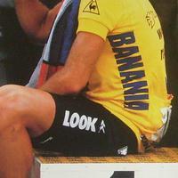 Bernard Hinault kerékpáros autogramja