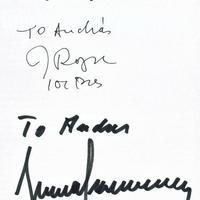 Jacques Rogge és Juan Antonio Samaranch dedikációja