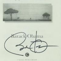Barack Obama amerikai elnök autogramja