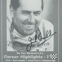 Sir Jack Brabham autogramja (Forma-1 világbajnokok sorozat)