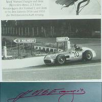 Juan Manuel Fangio autogramjai (Forma-1 világbajnokok sorozat)