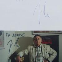 Jirí Menzel filmrendező dedikációja