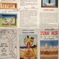 Ivan Hor festőművész dedikációja