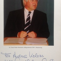 Frank-Walter Steinmeier német politikus dedikált fényképe