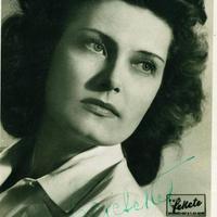 Karády Katalin dedikált fotója