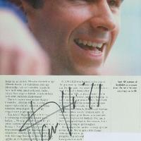 Damon Hill autogramja (Forma-1 világbajnokok sorozat)