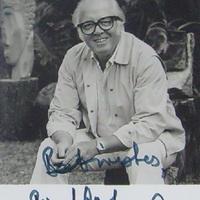 Richard Attenborough filmrendező dedikált fényképe