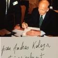 Valéry Giscard D'Estaing francia elnök dedikációja