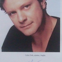 Colin Firth autogramja