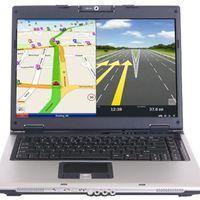 A laptop, mint autós GPS navigátor
