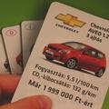 Hirdessen autót autóskártyával!