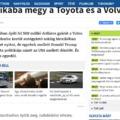 A szélsőjobbos szenny az origo autós rovatát is elöntötte