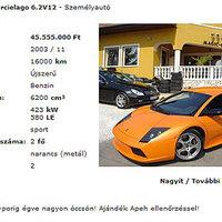 Porráégett Lamborghini olcsón!