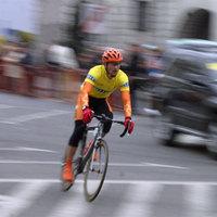 A biciklisé az egész út