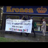 Protest against the criminalization of homelessness in Hungary/Solidarity from Essen