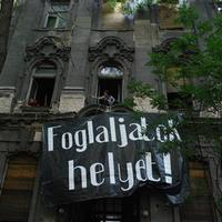 Hundreds of people protested for a responsible housing policy in Budapest