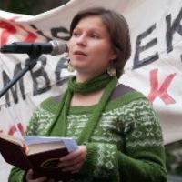 Románné Bolba Márta beszéde az Alkotmány utcában