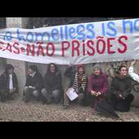 Lisbon protest against the criminalization of homelessness in Hungary