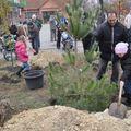 Fákat ültettek a gyerekekért