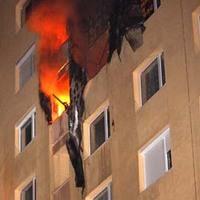 Tűz a Középszer utcai bérházban