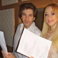 Avraam Rousso és Natalya Valevskaya a studióban
