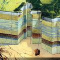 Bazi nagy pusztában néhány cső: földgáztároló