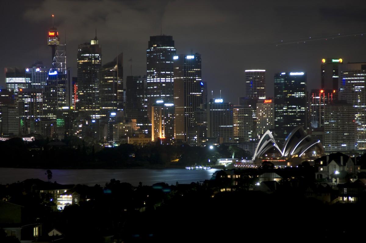 Éjjeli látkép a városról