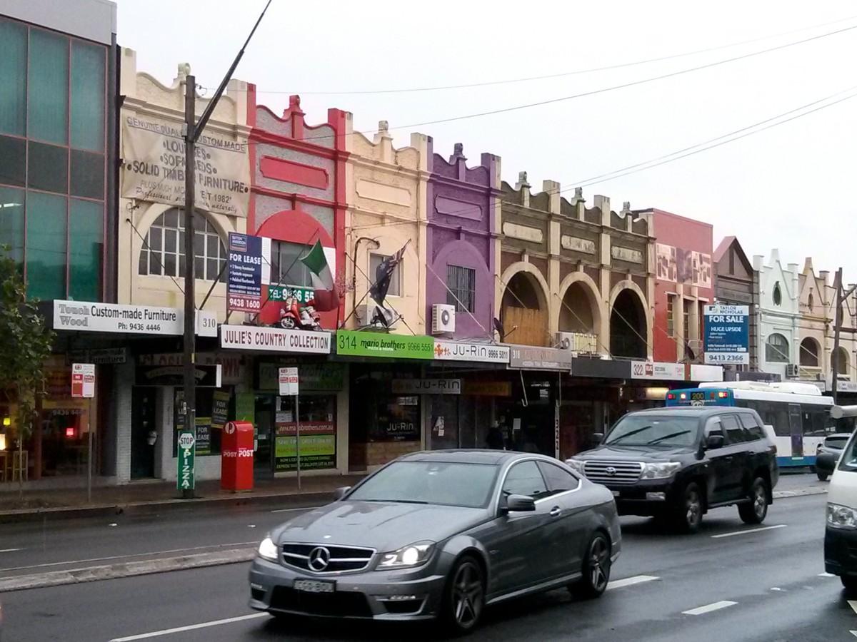 Tipikus kiskereskedői épületsor