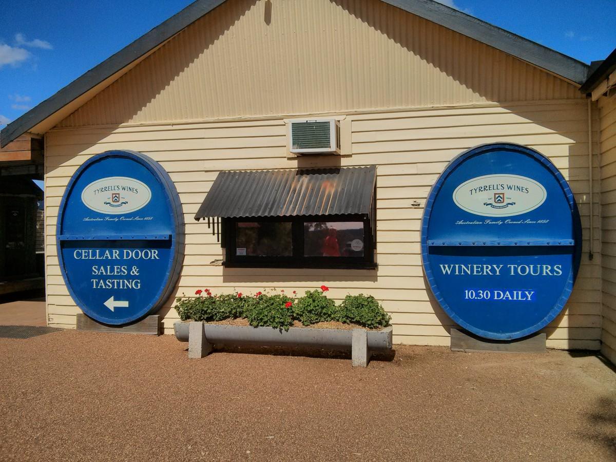 Egy borászat a Hunter Valley-ben, Sydnetől 2 órányira