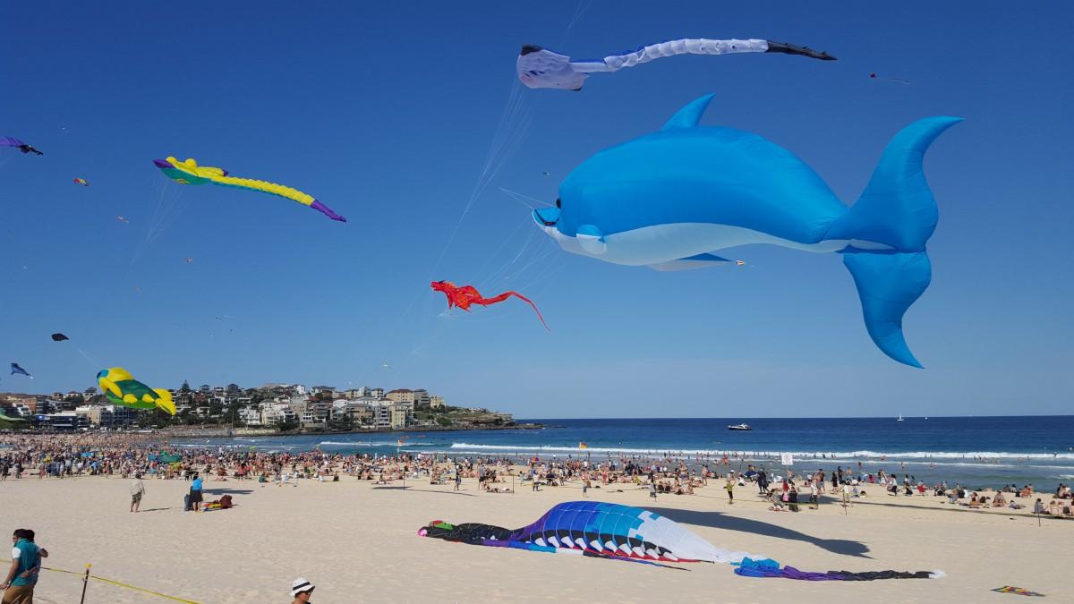 A szelek fesztiválja Bondi Beach-en
