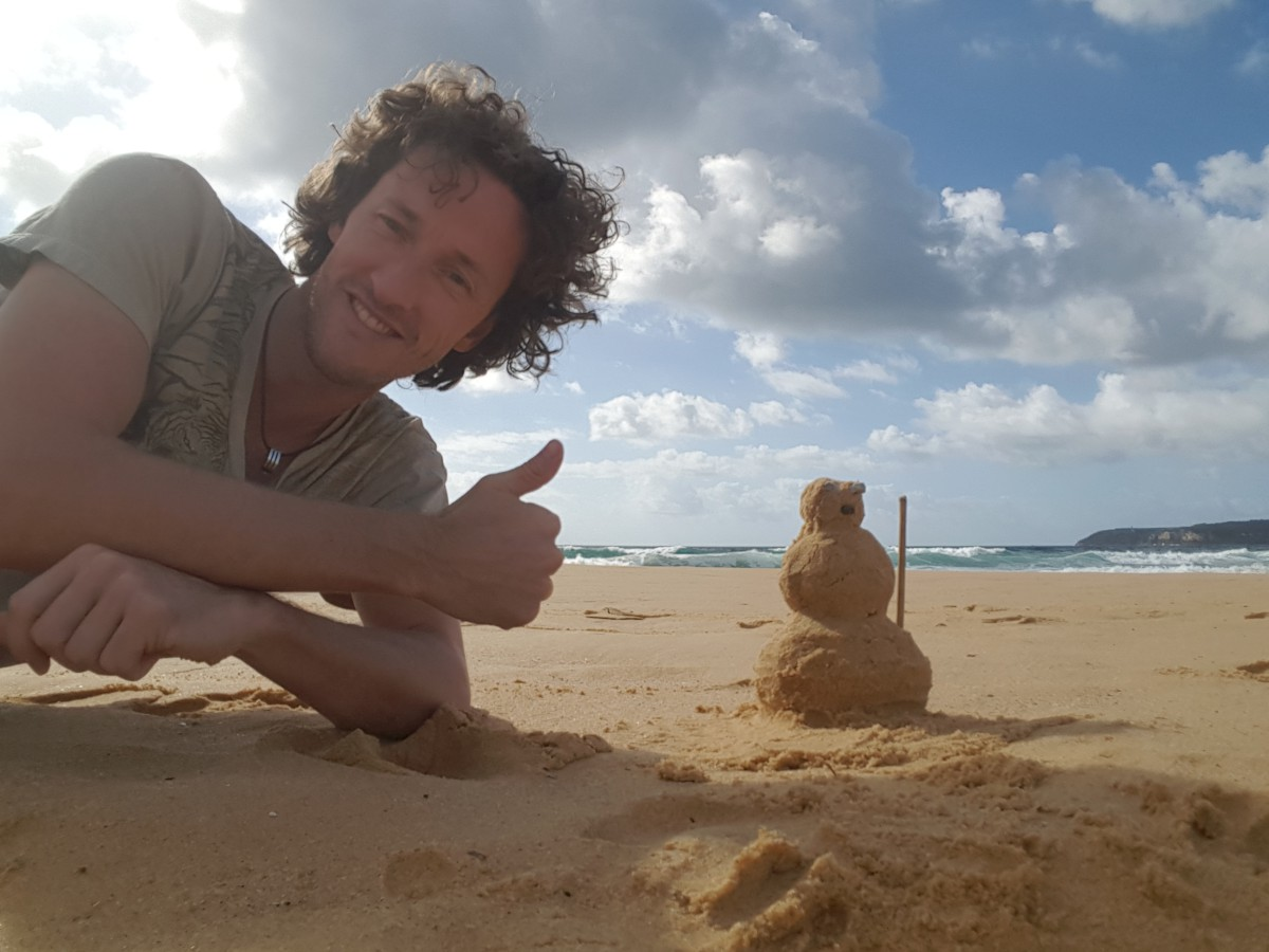 ... hóember helyett homokember