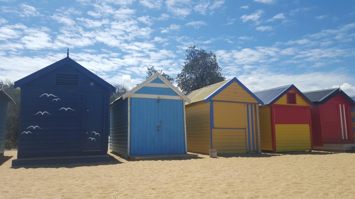 A híres melbourne-i strand kabinok