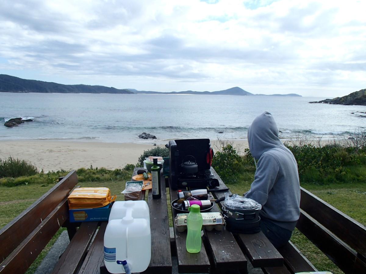 A legjobb 'étterem' a beach melletti pad