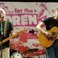 David Gilmour és Roger Waters egy színpadon