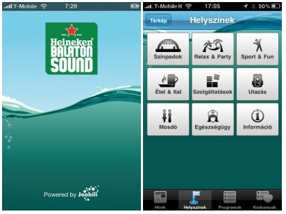 Balaton Sound iPhone applikáció