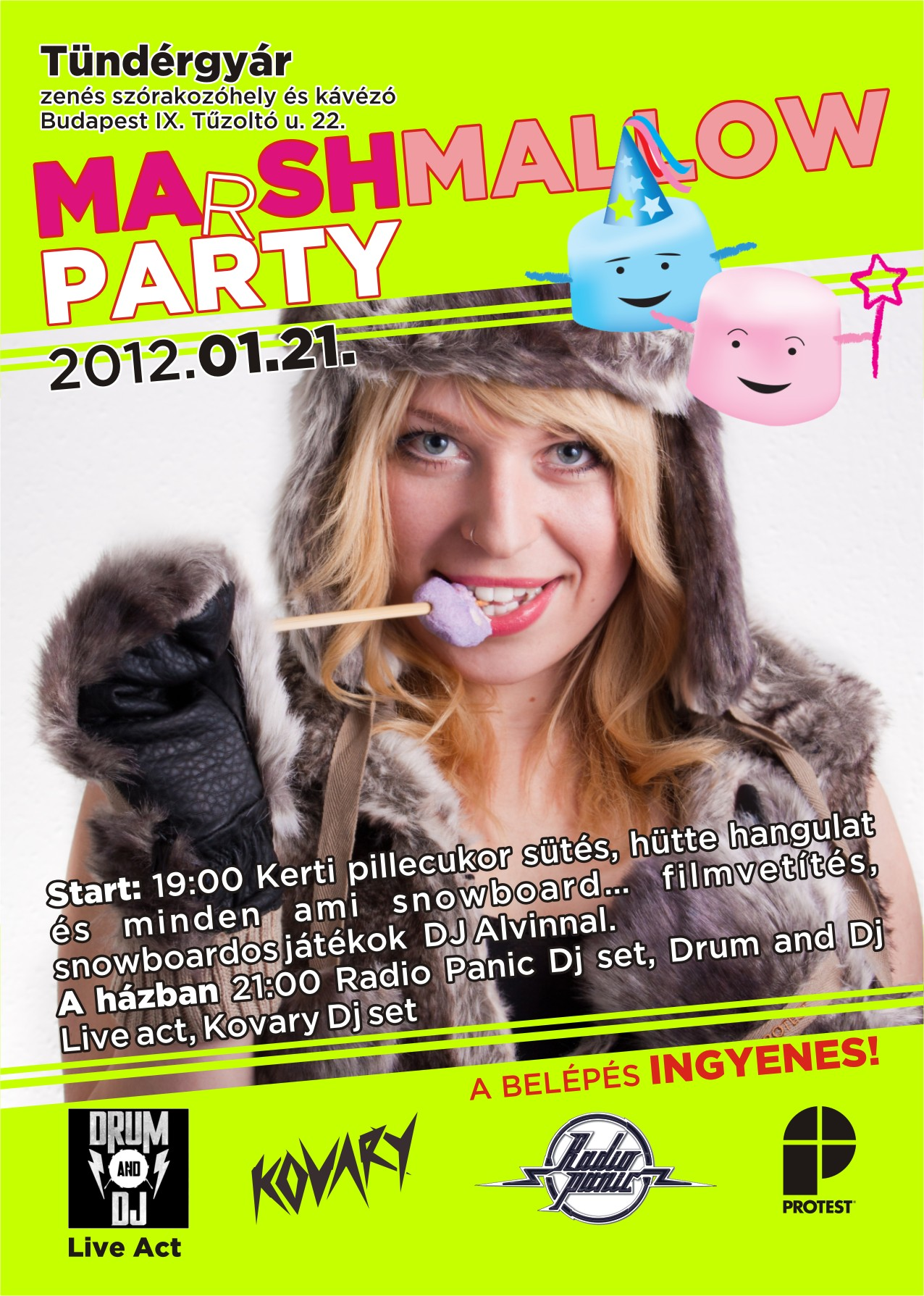 MArSHMALLOW Party + drum 'n' dj live act