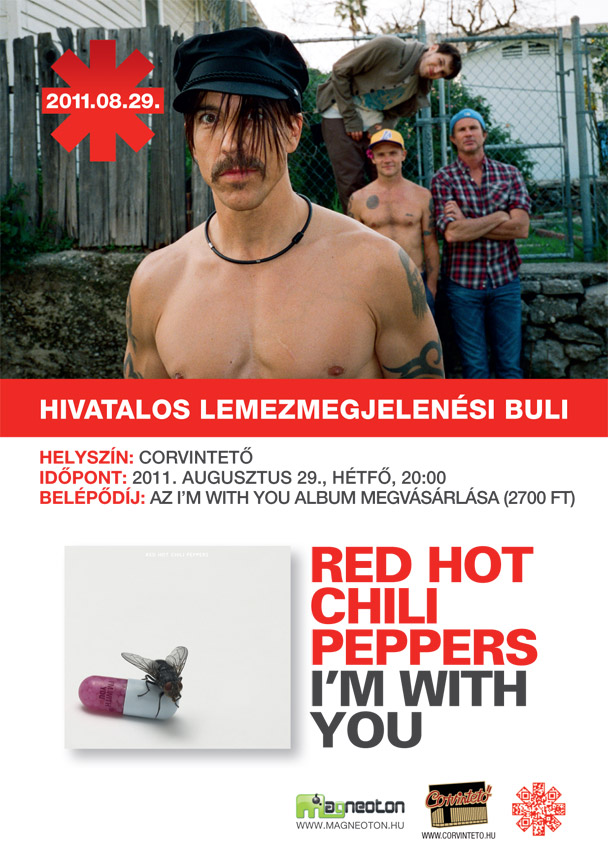 Bréking: RHCP - I'm with You - lemezmegjelenési buli