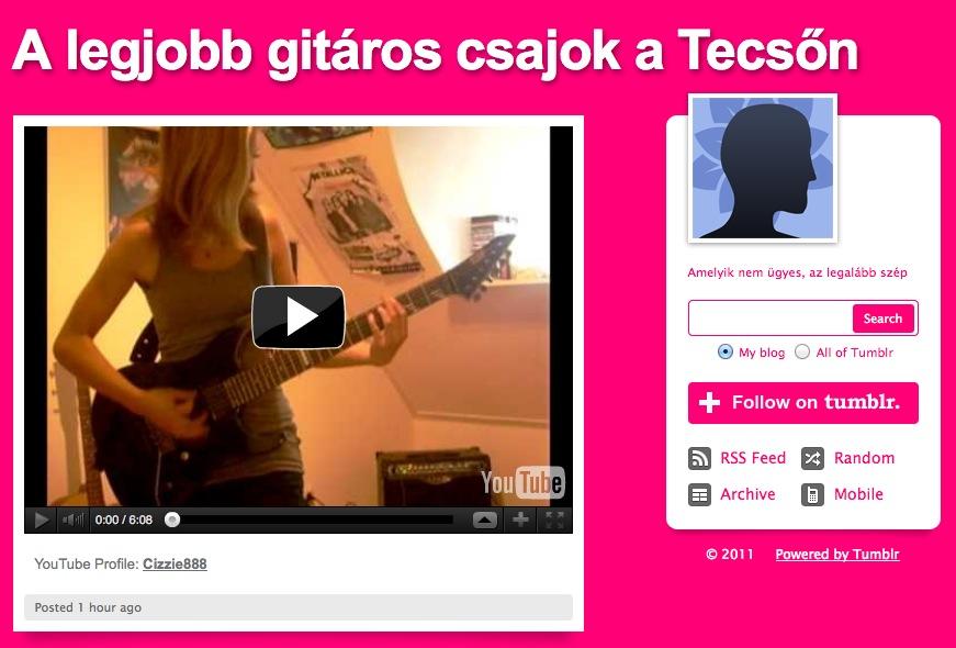 Forró gitáros lányok a YouTube-on